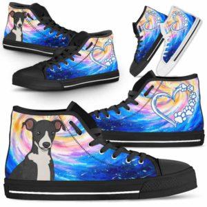 HTS-U-Dog-DogGalaxy-Greyhound-32@ Dog Galaxy Greyhound 32-Greyhound Dog Lovers High Top Shoes Gift Men Women Dog Mom Dog Dad. Galaxy Love Custom Shoes.