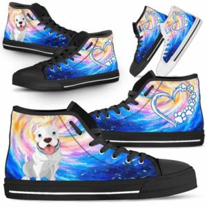 HTS-U-Dog-DogGalaxy-Pit_Bull-44@ Dog Galaxy Pit Bull 44-Pit Bull Dog Lovers High Top Shoes Gift Men Women Dog Mom Dog Dad. Galaxy Love Custom Shoes.