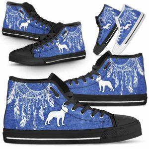 HTS-U-Dog-JeanDreamcatcher-Boston_Terrier-3@ Jean Dreamcatcher Boston Terrier 3-Boston Terrier Dog Lovers High Top Shoes Dreamcatcher Gift Men Women. Dog Mom Dog Dad Custom Shoes.