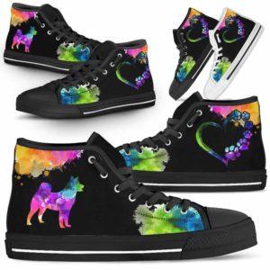 HTS-U-Dog-Watercolor-Shiba_inu-22@ Dog Watercolor Shiba inu 22-Shiba Inu Dog Lovers Watercolor High Top Shoes Gift Men Women. Dog Mom Dog Dad Custom Shoes.