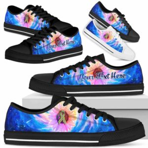 LTS-U-Awareness-GalaxySunflower-Autism-5-Autism Awareness Ribbon Galaxy Sunflower Tennis Shoes Gym Low Top Shoes. Faith Hope Love Fighter Survivor Gift.