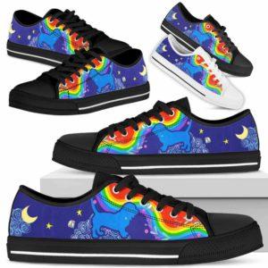 LTS-U-Dog-RainbowSil-Basset_Hound-1@ Rainbow Silhouette Basset Hound 1-Basset Hound Dog Lovers Low Top Shoes Gift For Men Women Dog Owners. Colorful Rainbow Custom Shoes.