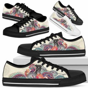 LTS-U-Dog-RedMandala-Pit_Bull-41@ Red Mandala Pit Bull 41-Pit Bull Dog Lovers Low Top Shoes For Men Women Dog Owners. Mandala Flower Custom Shoes Gift.