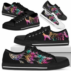 LTS-W-Dog-ColorfulDreamcatcher-German_Shepherd-12@ Colorful Dreamcatcher German Shepherd 12-German Shepherd Dog Lovers Dreamcatcher Low Top Shoes Gift Men Women. Dog Mom Dog Dad Custom Shoes.