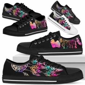 LTS-W-Dog-ColorfulDreamcatcher-Havanese-14@ Colorful Dreamcatcher Havanese 14-Havanese Dog Lovers Dreamcatcher Low Top Shoes Gift Men Women. Dog Mom Dog Dad Custom Shoes.