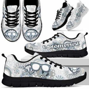 SS-U-Nurse-BlueMandala-Optometrist-15@ Blue Mandala Optometrist 15-Optometrist Sneakers Running Shoes Gift For Men Women. Flower Mandala Custom Shoes.