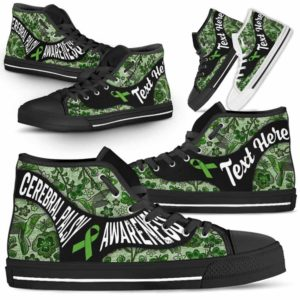 HTS-U-Awareness-EmbroideryNa01-CerPal-11@undefined-Cerebral Palsy Awareness Ribbon Embroidery Flower Canvas Shoes High Top Shoes Women Men. Faith Hope Love Custom Gift.