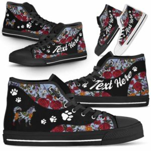 HTS-U-Dog-EmbroideryNa03-Husky-16@undefined-Embroidery Flower Husky Dog Lovers Canvas Shoes High Top Shoes Gift Men Women. Dog Mom Dog Dad Custom Shoes.