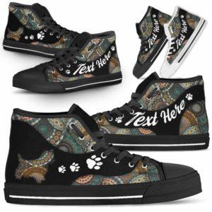 HTS-U-Dog-MandalaNa03-Westie-24@undefined-Mandala Paw Westie Dog Lovers Canvas Shoes High Top Shoes Gift Men Women. Dog Mom Dog Dad Custom Shoes. West Highland Terrier