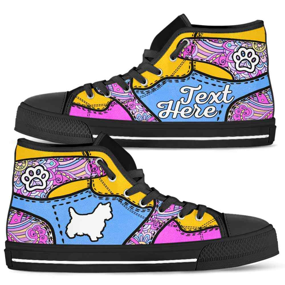 HTS-U-Dog-PastelMandalaNa012-Westie-24@undefined-Westie Dog Lovers Pastel Mandala Canvas Shoes High Top Shoes Gift Men Women. Dog Mom Dog Dad Custom Shoes. West Highland White Terrier