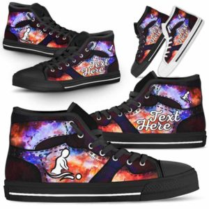 HTS-U-Nurse-GalaxyNa022-MasThe-9@undefined-Massage Therapist Galaxy Canvas Shoes High Top Shoes Gift Women Men. Custom Shoes.