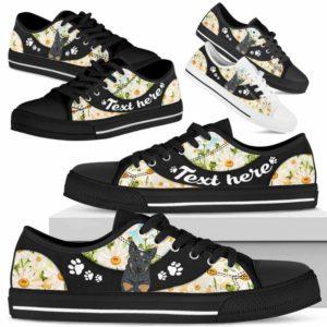 LTS-U-Dog-DaisyNa023-Heeler-35@undefined-Heeler Dog Lovers Daisy Flower Tennis Shoes Gym Low Top Shoes Gift Men Women. Dog Mom Dog Dad Custom Shoes. Australian Cattle
