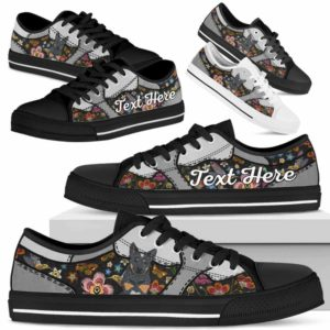 LTS-U-Dog-EmbroideryNa013-Heeler-35@undefined-Heeler Dog Lovers Flower Embroidery Tennis Shoes Gym Low Top Shoes Gift Men Women. Dog Mom Dog Dad Custom Shoes. Australian Cattle