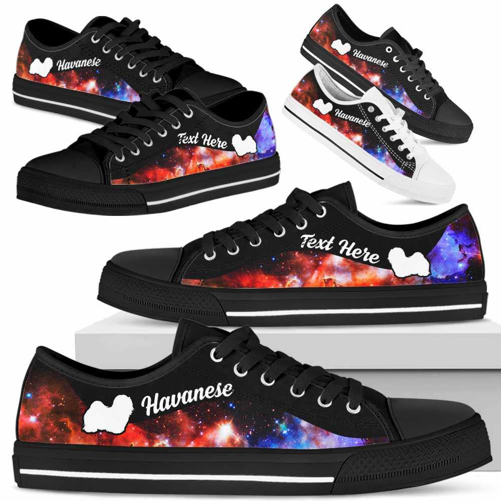 LTS-U-Dog-Galaxy02NaSportline10-Hava-14@undefined-Havanese Dog Lovers Galaxy Tennis Shoes Gym Low Top Shoes Gift Men Women. Dog Mom Dog Dad Custom Shoes.