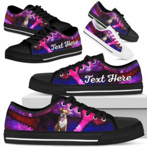 LTS-U-Dog-GalaxyNa013-Boxer-9@undefined-Boxer Dog Lovers Galaxy Tennis Shoes Gym Low Top Shoes Gift Men Women. Dog Mom Dog Dad Custom Shoes.