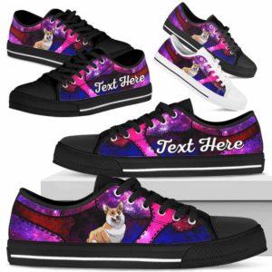 LTS-U-Dog-GalaxyNa013-Corgi-18@undefined-Corgi Dog Lovers Galaxy Tennis Shoes Gym Low Top Shoes Gift Men Women. Dog Mom Dog Dad Custom Shoes.
