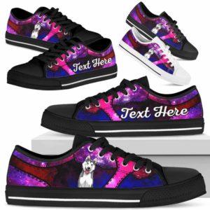 LTS-U-Dog-GalaxyNa013-Husky-36@undefined-Husky Dog Lovers Galaxy Tennis Shoes Gym Low Top Shoes Gift Men Women. Dog Mom Dog Dad Custom Shoes.