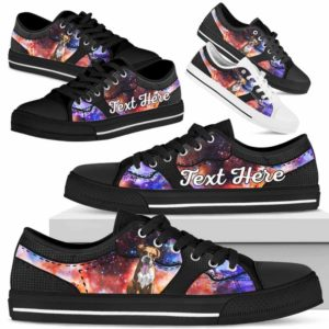 LTS-U-Dog-GalaxyNa023-Boxer-9@undefined-Boxer Dog Lovers Galaxy Tennis Shoes Gym Low Top Shoes Gift Men Women. Dog Mom Dog Dad Custom Shoes.