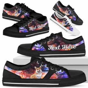 LTS-U-Dog-GalaxyNa023-Corgi-18@undefined-Corgi Dog Lovers Galaxy Tennis Shoes Gym Low Top Shoes Gift Men Women. Dog Mom Dog Dad Custom Shoes.