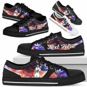 LTS-U-Dog-GalaxyNa023-Husky-36@undefined-Husky Dog Lovers Galaxy Tennis Shoes Gym Low Top Shoes Gift Men Women. Dog Mom Dog Dad Custom Shoes.