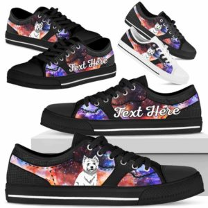 LTS-U-Dog-GalaxyNa023-Westie-62@undefined-Westie Dog Lovers Galaxy Tennis Shoes Gym Low Top Shoes Gift Men Women. Dog Mom Dog Dad Custom Shoes. West Highland White Terrier