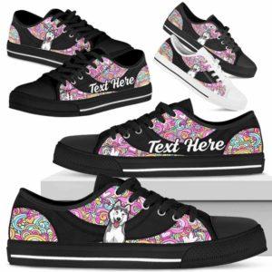 LTS-U-Dog-LovePeaceNa013-Husky-36@undefined-Husky Dog Lovers Hippie Tennis Shoes Gym Low Top Shoes Gift Men Women. Dog Mom Dog Dad Custom Shoes.