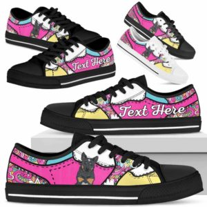 LTS-U-Dog-LovenPeaceNa013-Heeler-35@undefined-Heeler Dog Lovers Hippie Tennis Shoes Gym Low Top Shoes Gift Men Women. Dog Mom Dog Dad Custom Shoes. Australian Cattle