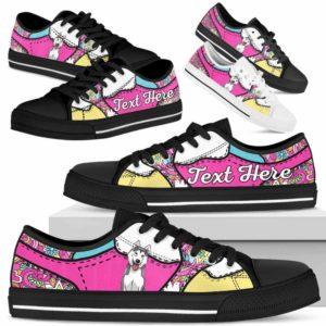 LTS-U-Dog-LovenPeaceNa013-Husky-36@undefined-Husky Dog Lovers Hippie Tennis Shoes Gym Low Top Shoes Gift Men Women. Dog Mom Dog Dad Custom Shoes.