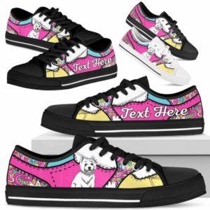 LTS-U-Dog-LovenPeaceNa013-Westie-62@undefined-Westie Dog Lovers Hippie Tennis Shoes Gym Low Top Shoes Gift Men Women. Dog Mom Dog Dad Custom Shoes. West Highland White Terrier