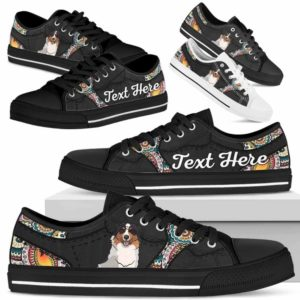 LTS-U-Dog-MandalaNa023-Aussie-1@undefined-Aussie Dog Lovers Mandala Tennis Shoes Gym Low Top Shoes Gift Men Women. Dog Mom Dog Dad Custom Shoes. Australian Shepherd