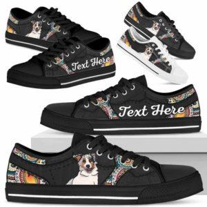 LTS-U-Dog-MandalaNa023-Aussie-2@undefined-Aussie Dog Lovers Mandala Tennis Shoes Gym Low Top Shoes Gift Men Women. Dog Mom Dog Dad Custom Shoes. Australian Shepherd
