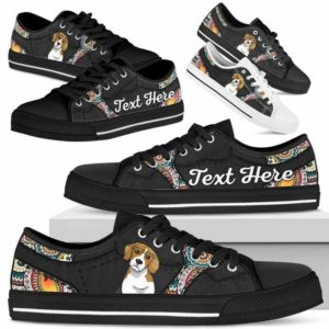 LTS-U-Dog-MandalaNa023-Beagle-4@undefined-Beagle Dog Lovers Mandala Tennis Shoes Gym Low Top Shoes Gift Men Women. Dog Mom Dog Dad Custom Shoes.