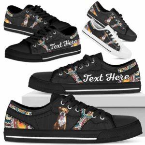 LTS-U-Dog-MandalaNa023-Boxer-9@undefined-Boxer Dog Lovers Mandala Tennis Shoes Gym Low Top Shoes Gift Men Women. Dog Mom Dog Dad Custom Shoes.