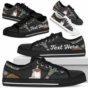 LTS-U-Dog-MandalaNa033-Aussie-1@undefined-Aussie Dog Lovers Mandala Tennis Shoes Gym Low Top Shoes Gift Men Women. Dog Mom Dog Dad Custom Shoes. Australian Shepherd