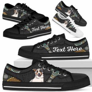 LTS-U-Dog-MandalaNa033-Aussie-2@undefined-Aussie Dog Lovers Mandala Tennis Shoes Gym Low Top Shoes Gift Men Women. Dog Mom Dog Dad Custom Shoes. Australian Shepherd