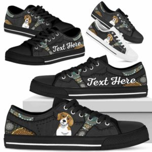 LTS-U-Dog-MandalaNa033-Beagle-4@undefined-Beagle Dog Lovers Mandala Tennis Shoes Gym Low Top Shoes Gift Men Women. Dog Mom Dog Dad Custom Shoes.