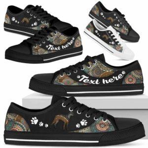 LTS-U-Dog-MandalaNa033-Boxer-4@undefined-Boxer Dog Lovers Mandala Tennis Shoes Gym Low Top Shoes Gift Men Women. Dog Mom Dog Dad Custom Shoes.