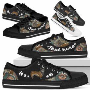 LTS-U-Dog-MandalaNa033-Corgi-8@undefined-Corgi Dog Lovers Mandala Tennis Shoes Gym Low Top Shoes Gift Men Women. Dog Mom Dog Dad Custom Shoes.