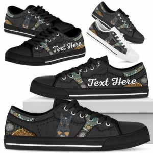 LTS-U-Dog-MandalaNa033-Heeler-35@undefined-Heeler Dog Lovers Mandala Tennis Shoes Gym Low Top Shoes Gift Men Women. Dog Mom Dog Dad Custom Shoes. Australian Cattle