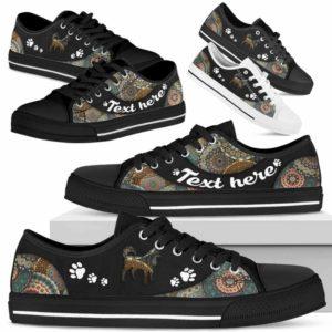 LTS-U-Dog-MandalaNa033-Husky-16@undefined-Husky Dog Lovers Mandala Tennis Shoes Gym Low Top Shoes Gift Men Women. Dog Mom Dog Dad Custom Shoes.