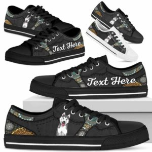 LTS-U-Dog-MandalaNa033-Husky-36@undefined-Husky Dog Lovers Mandala Tennis Shoes Gym Low Top Shoes Gift Men Women. Dog Mom Dog Dad Custom Shoes.