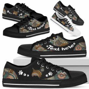LTS-U-Dog-MandalaNa033-Westie-24@undefined-Westie Dog Lovers Mandala Tennis Shoes Gym Low Top Shoes Gift Men Women. Dog Mom Dog Dad Custom Shoes. West Highland White Terrier