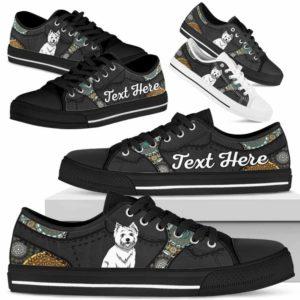 LTS-U-Dog-MandalaNa033-Westie-62@undefined-Westie Dog Lovers Mandala Tennis Shoes Gym Low Top Shoes Gift Men Women. Dog Mom Dog Dad Custom Shoes. West Highland White Terrier