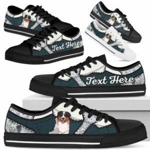 LTS-U-Dog-PaisleyNa013-Aussie-1@undefined-Aussie Dog Lovers Paisley Tennis Shoes Gym Low Top Shoes Gift Men Women. Dog Mom Dog Dad Custom Shoes. Australian Shepherd