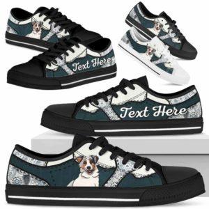 LTS-U-Dog-PaisleyNa013-Aussie-2@undefined-Aussie Dog Lovers Paisley Tennis Shoes Gym Low Top Shoes Gift Men Women. Dog Mom Dog Dad Custom Shoes. Australian Shepherd