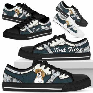 LTS-U-Dog-PaisleyNa013-Beagle-4@undefined-Beagle Dog Lovers Paisley Tennis Shoes Gym Low Top Shoes Gift Men Women. Dog Mom Dog Dad Custom Shoes.