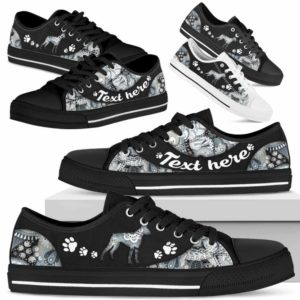LTS-U-Dog-PaisleyNa013-Boxer-4@undefined-Boxer Dog Lovers Paisley Tennis Shoes Gym Low Top Shoes Gift Men Women. Dog Mom Dog Dad Custom Shoes.