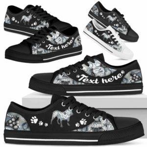 LTS-U-Dog-PaisleyNa013-Bulldog-6@undefined-Bulldog Dog Lovers Paisley Tennis Shoes Gym Low Top Shoes Gift Men Women. Dog Mom Dog Dad Custom Shoes.