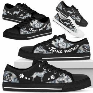 LTS-U-Dog-PaisleyNa013-Heeler-15@undefined-Heeler Dog Lovers Paisley Tennis Shoes Gym Low Top Shoes Gift Men Women. Dog Mom Dog Dad Custom Shoes. Australian Cattle