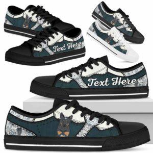 LTS-U-Dog-PaisleyNa013-Heeler-35@undefined-Heeler Dog Lovers Paisley Tennis Shoes Gym Low Top Shoes Gift Men Women. Dog Mom Dog Dad Custom Shoes. Australian Cattle